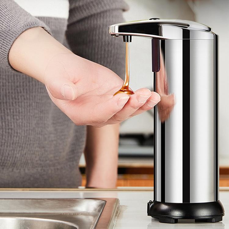Sensore automatico di movimento automatico senza mani a batteria rimovibile da 280 ml Erogatore di sapone schiumogeno per bagno