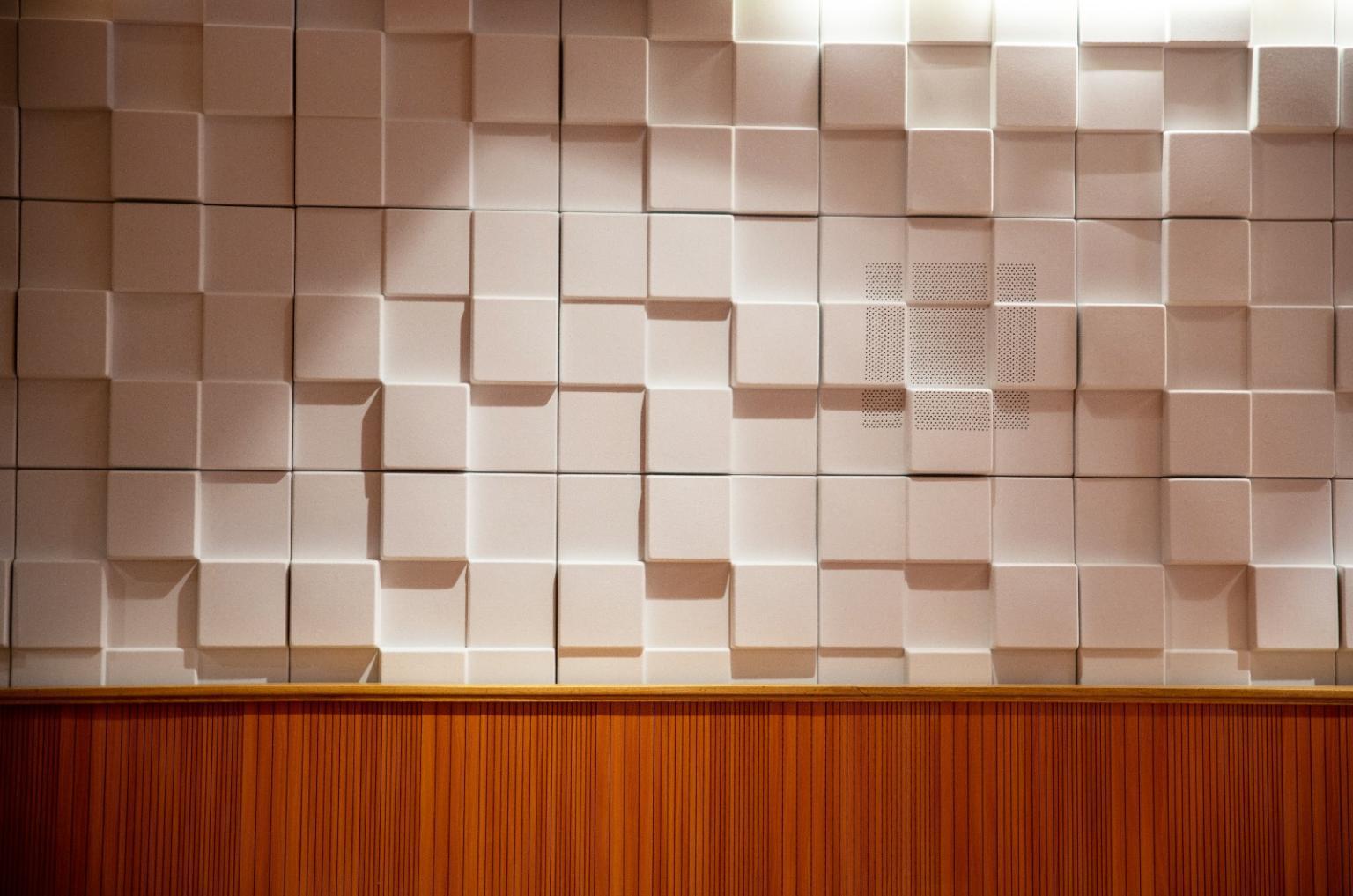 Studio Decoration 3D Schallisolierung Polyester Akustikpaneel