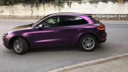 Ondis 1,52 X 18m bulle auto-adhésif en vinyle libre violet noir satin mat électrique vinyle Chameleon Wrap Chrome Métallique