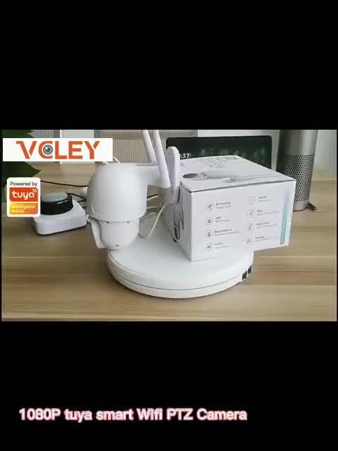 좋은 품질의 Tuya 앱 방수 스마트 무선 카메라 WiFi CCTV 홈 보안을 위한 카메라 CCTV 비디오 HD 미니PTZ 돔 실외 사용