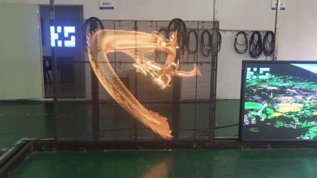 2 mwx1,5 mh P3,91-7,8 Transparentes LED-Display für den Innenbereich mit hoher Helligkeit