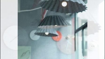 Schöne Regenschirm Typ Praktische Verzierung Wirkung der Polyester-Faser Lampenschirm