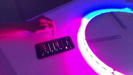 """APP Gecontroleerde Sync aan Muziek 15 de """" Ring die van het Wiel Lichten van de Strook van de Lichte Dynamische LEIDENE van de Gloed Lichten 4PCS SMD van de Auto de Flexibele achtervolgen"""