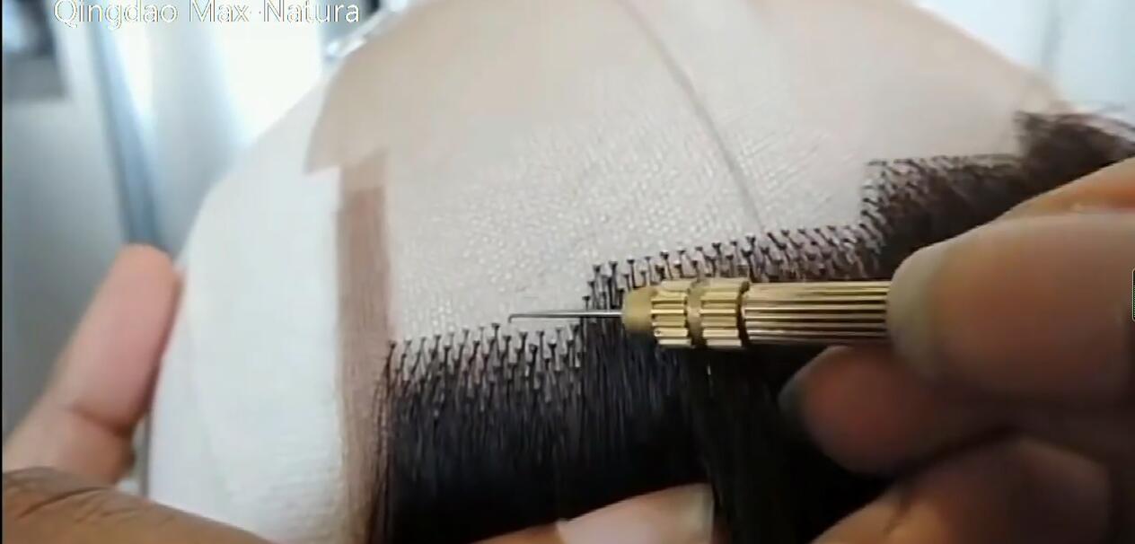 أكثر أنواع الشعر الطبيعية صنع أفضل جودة الرجال استبدال الشعر البشري