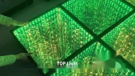 Guangzhou Wireless LED Lights Infinity Starlit Mirror Dance Floor for ステージ照明装置