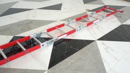 2,7 à 8,7 m mètres PRF PRF Multi-Purpose échelle mixte/Escabeau pliable en fibre de verre