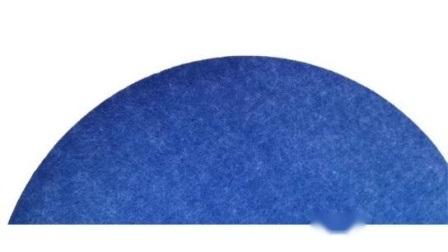 Blaue Farbe Einfarbig Panel Dekorative Polyester Akustikpanel