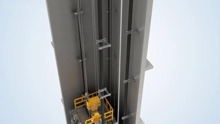 DSK Square Professional 1000kg Sightseeing Panoramaglas Personenaufzug Aufzug
