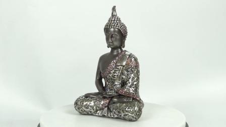Novo chegar Feng Shui quadro decorativos sessão interior estátua de Buda Meditando Buda de resina
