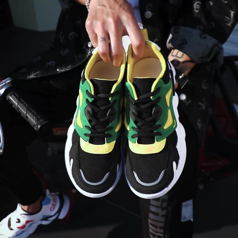 2021 Nuevo muelle de transpirable zapatos casual zapatos zapatillas tendencias Ins Thick-Soled hombres zapatos deportivos Fal-Ye07