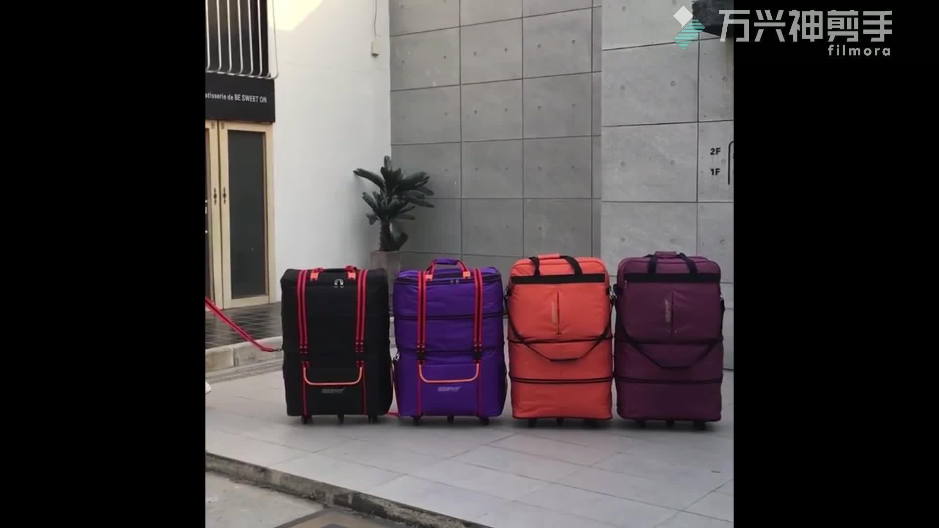 Chubont expansíveis Dobrável Programável 5 Rodas de bolsas de compras de Viagem
