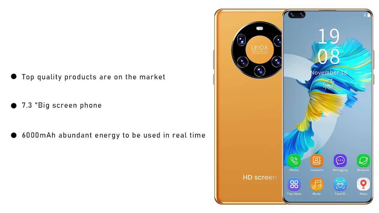 Versione globale smartphone Galaiy 6.1 HD inch 1+8GB cellulari Android Face ID Face ID Dual SIM Cell cellulari