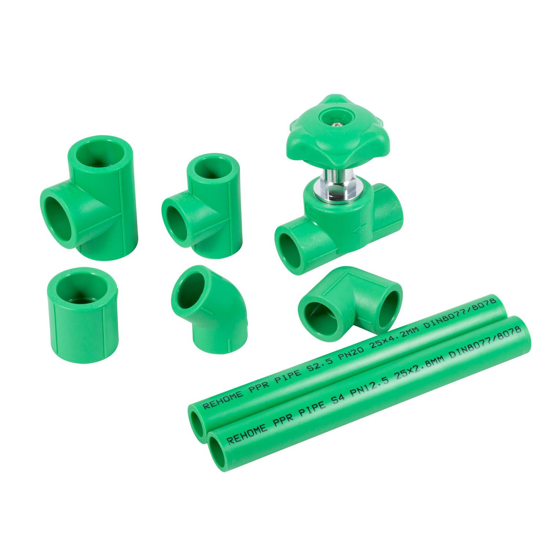 Certification ce tube plastique PPR PN25 20-110mm plastique pur Tuyau PPR
