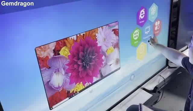 Напряжение питания на заводе 55~98 дюймовом сенсорном экране smart TV дисплей с плоской панелью интерактивные доски с камеры и микрофона