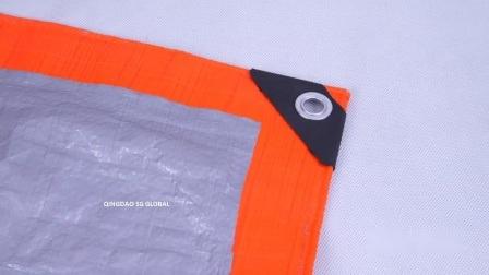 UV-beständige blaue weiße PE-Kunststoffrollen mit Plane
