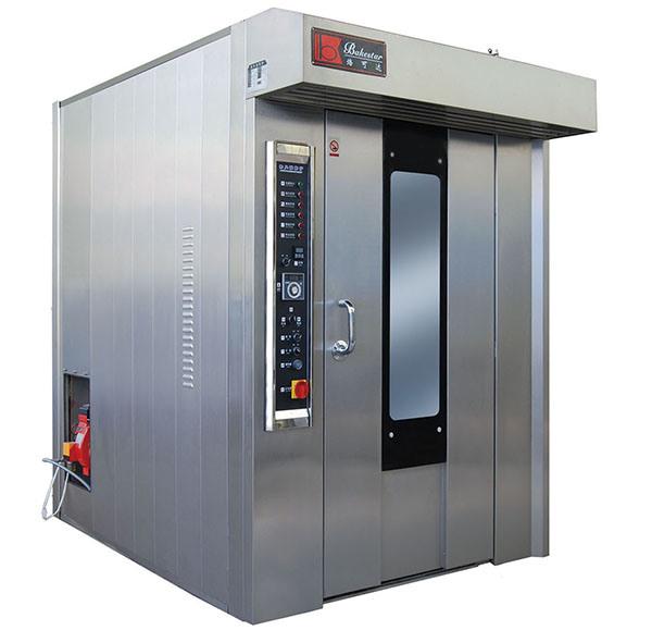 Fabrieksprijs Bakkerijapparatuur Bakkermachine 64 Trays Gas Rotary Oven