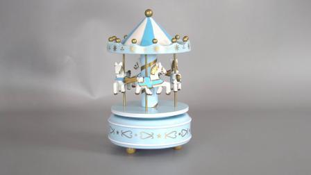 De aangepaste Gift van het Stuk speelgoed van het Jonge geitje van Carrossel van Kerstmis Decoratieve Muzikale beëindigt om Plastic en Houten Vrolijk gaat de Muziekdoos van de Carrousel
