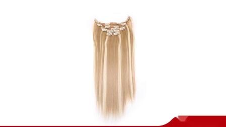 Recta Larga de seda natural de 20 pulgadas de Remy derechos Virgen Hair Extension cortar el pelo