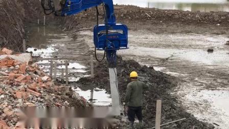 Pilha de folhas hidráulico Driver para Escavadoras