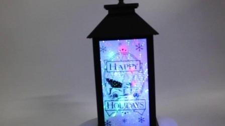 De promotie 3D LEIDENE Zonder vlammen van de Melodie van Navidad van de Schommeling Plastic Seizoengebonden Decoratieve Aangestoken Lantaarn van Kerstmis
