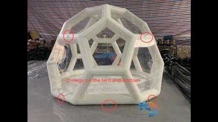 フットボールの形をした Inflatable 庭の芝生の泡のキャンプ Stargazing テント
