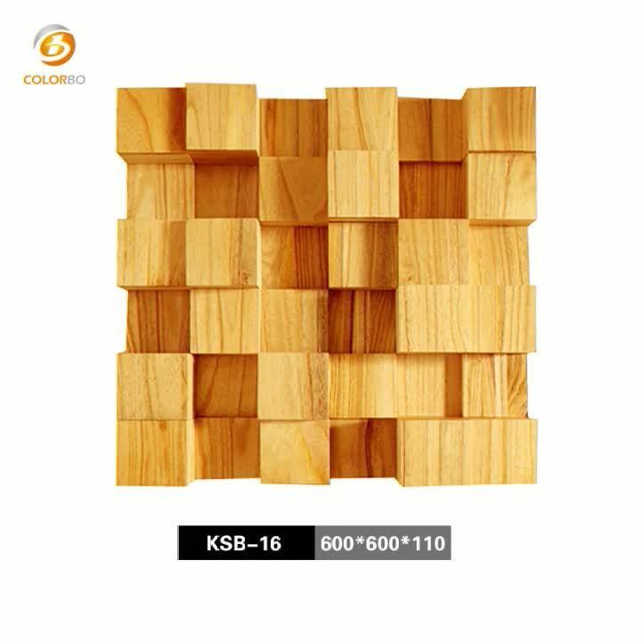 Quadratischer Restdiffusor Aus Holz, Akustisch Reflektierendes Material