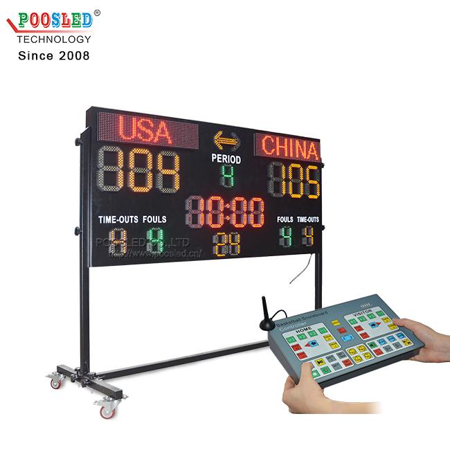 لوحة تسجيل إلكترونية من نوع LED لبيع كرة السلة للبيع الساخن تجعل من تأجير لوحة تسجيل النقاط الإلكترونية لوحة تسجيل نتائج LED