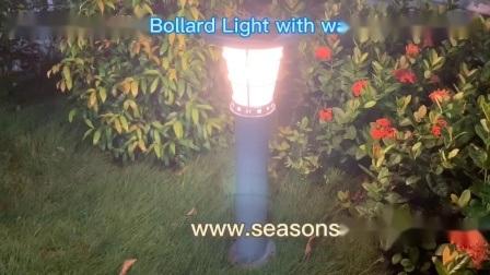 Iluminação LED brilhante de fábrica Tração estática relvado de LED de iluminação Solar Luz de aço inoxidável para iluminação de Jardim