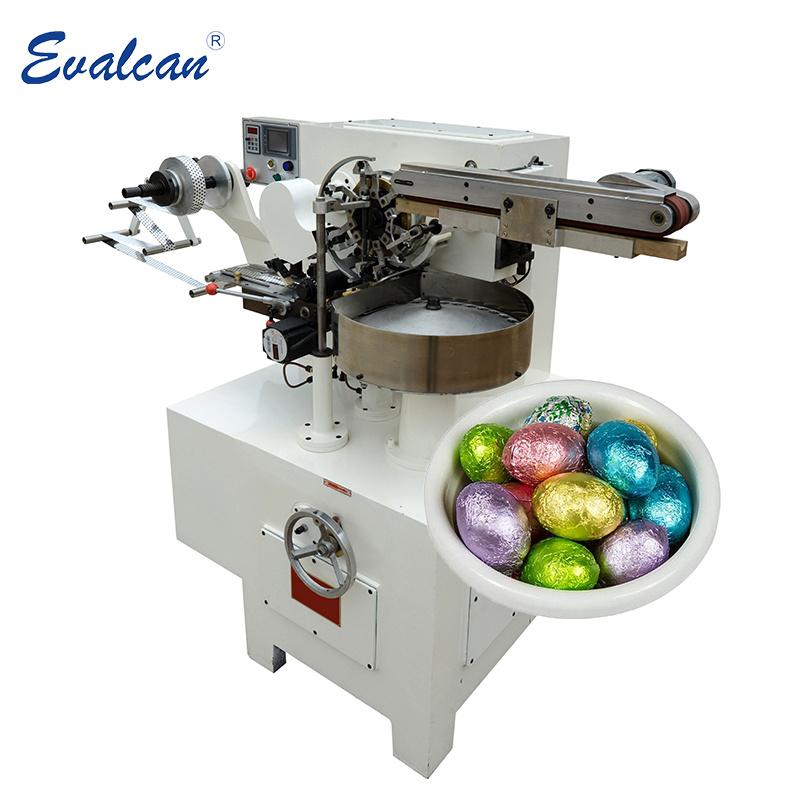 Bille d'aluminium/ Oeuf chocolat machine de conditionnement d'emballage de l'enrubanneuse de la machine d'enrubannage