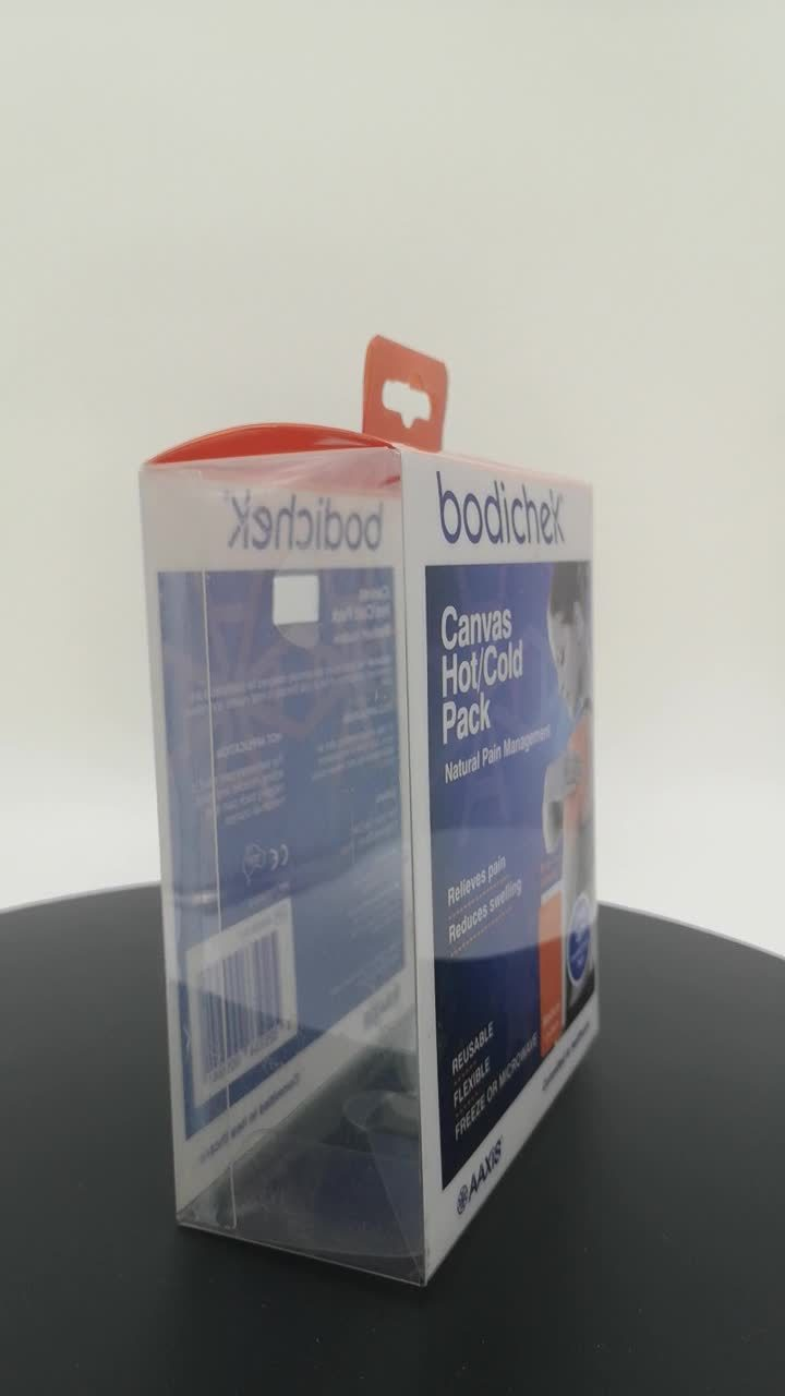 Custom Gift Packaging Clear PVC Pet Transparent plastic doos met Automatische vergrendeling