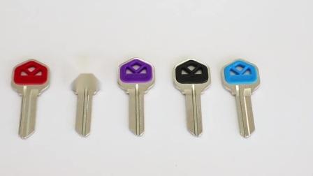 Hochwertige neue Messing Schlüssel vernickelt 2mm Custom Design SE1 Leerschlüsselleeres Haus für Hausschlüssel Türschloss