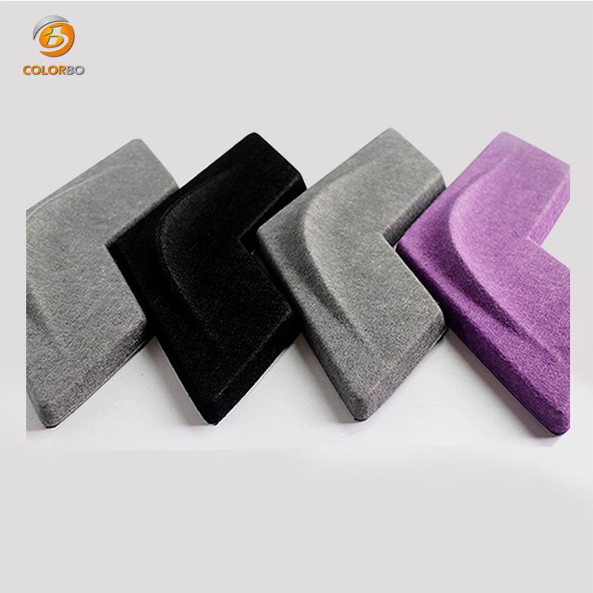 Dekorative Schallabsorption Wandverkleidung Polyester Fiber 3D Akustikpanel
