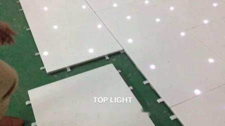 Noir et blanc portable LED plancher de danse étoilée avec l'interlocuteur