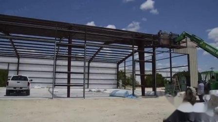 Magazzino modulare della costruzione della fabbrica della struttura chiara prefabbricata d'acciaio del blocco per grafici d'acciaio