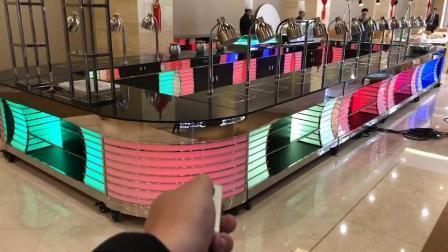 Tabelas de buffet de jantar de vidro temperado de decoração de móveis de aço inoxidável Hotel Restaurant Casamento Bufete de restauração