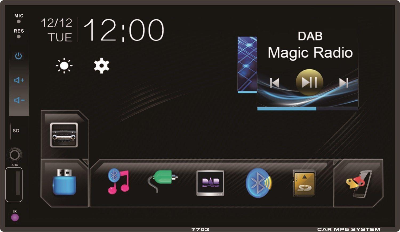 أفضل نظام صوتي للسيارة ومشغل DIN MP5 Bluetooth