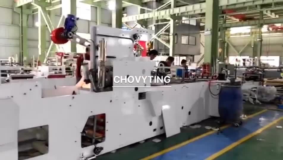 接着パッチハンドルの内側にある自動 LDPE プラスチックバッグ衣類のキャリー ショッピングバッグ製造機械