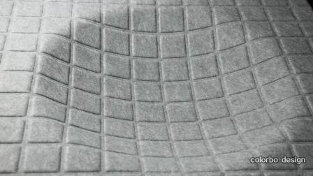 Leichte Polyester-Faser akustische Wandplatte 3D