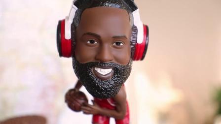 Polyresin personalizado 8,5 polegadas Super Star Houston Rockets jogador da NBA James Harden Figura Primavera Bobble Head com altifalante