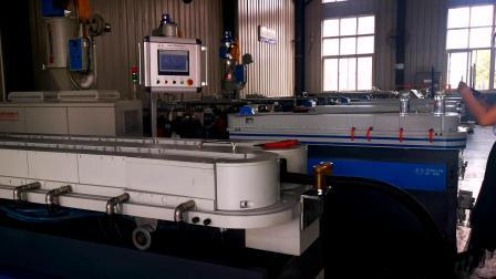 Hochgeschwindigkeits-einwandigen Wellrohr Extrusionslinie / PVC PE einfach Wand Wellrohr Linie für die Herstellung der elektrischen Draht Mantel