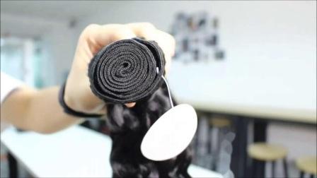 卸売価格の毛延長ペルーのバージンの人間の毛の束は自然に カラーの直線波型