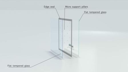 8мм 12мм Полностью Закаленное Энергосберегающее Стеклянное Мансардное Окно с Вакуумной Изоляцией