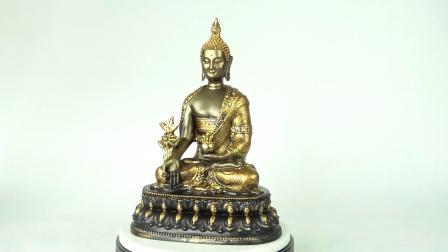 Amazônia grossista vender quente Fengshui Resina Cor Dourada Home decoração interior sentado meditando Zen estátuas de Buda no trono
