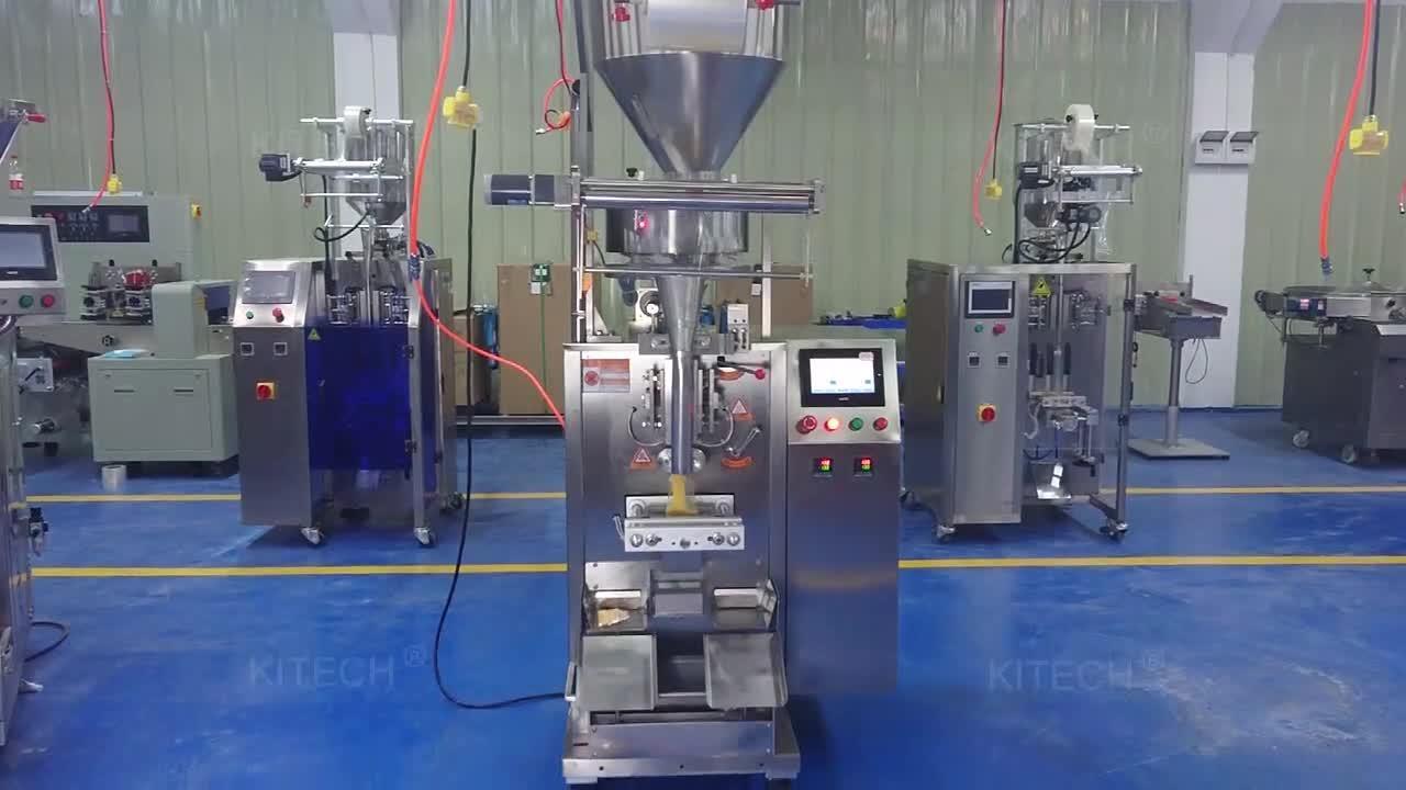 Granule verticale automatique de sel/riz/Bean/SEED/Spice/sucre/pop-corn/fruit/café/Ecrous/sachet de thé Stick Sachet Emballage d'emballage alimentaire Discoun d'étanchéité de remplissage de la machine