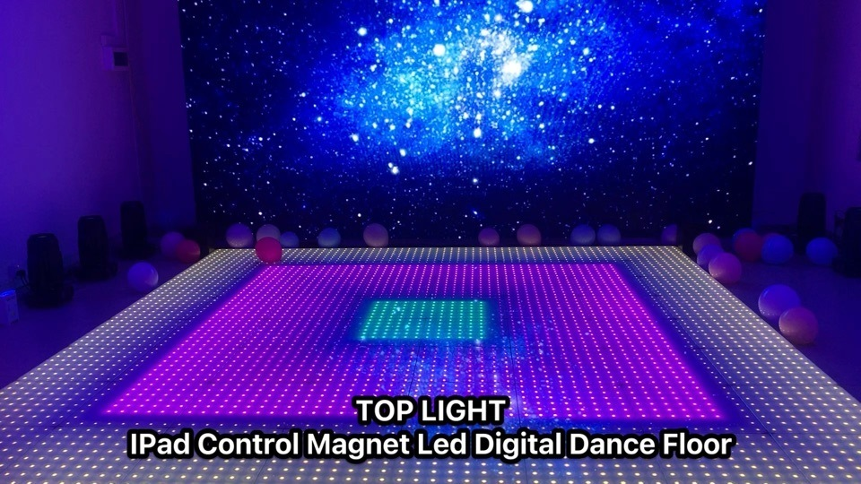 Outdoor Wireless contrôleur DMX LED de l'aimant 8x8 pixels decoration de mariage de plancher de danse