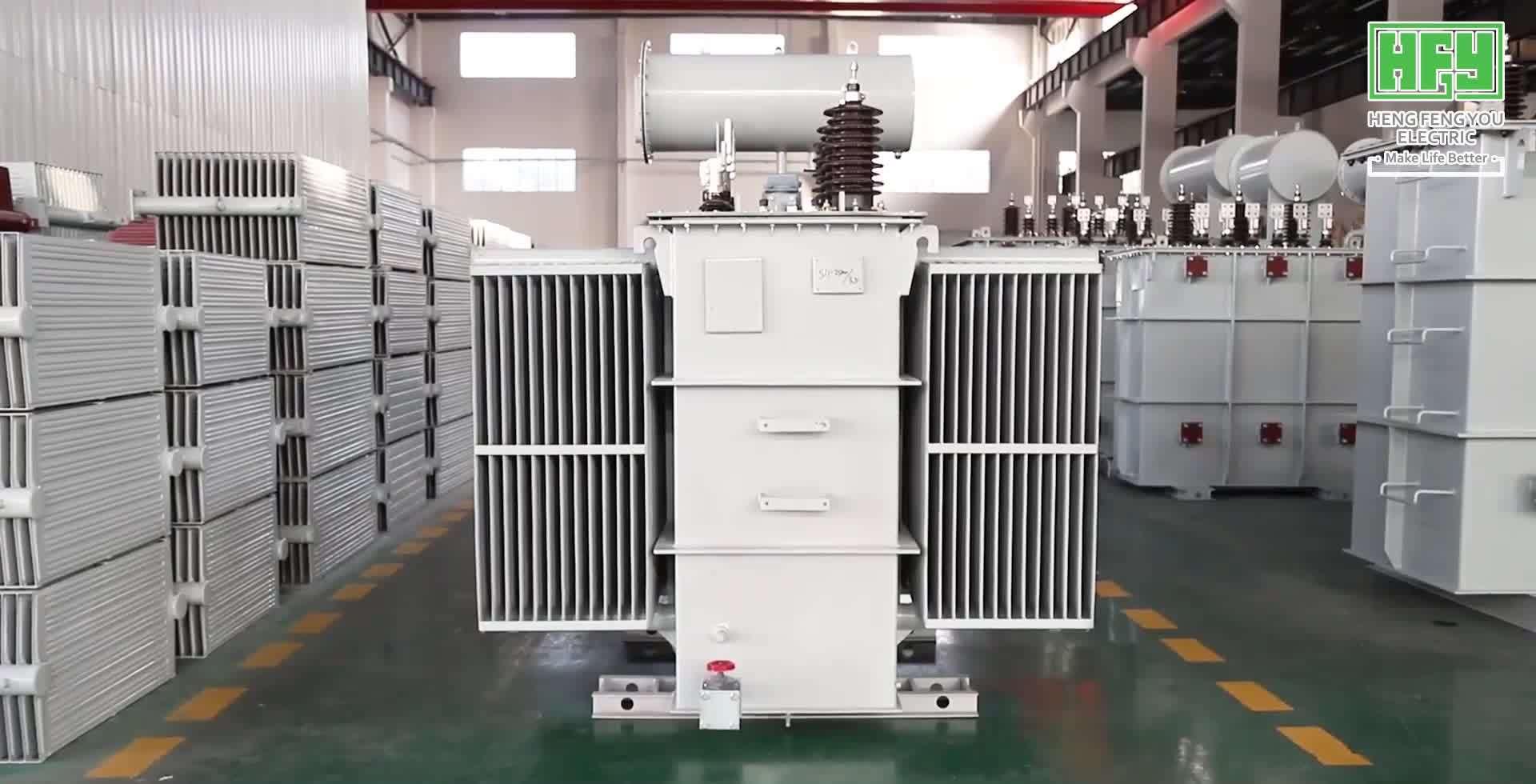 630 kVA 11/0.4 kV tipo di olio trifase a bassa perdita Trasformatore di potenza del trasformatore di distribuzione