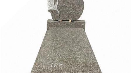 O design exclusivo de grandes dimensões em granito preto Gravestone Indiana