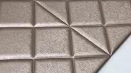 1 cm de papier peint en 3D'épaisseur de revêtement mural Panneau mural en cuir