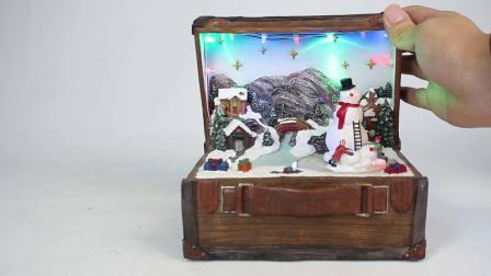 OEM Polyresin de Leuke LEIDENE Decoratieve Muziekdoos van Kerstmis