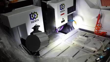 CNC-graveermachine met dubbele koppen voor telefoonglas, -scherm, -lens
